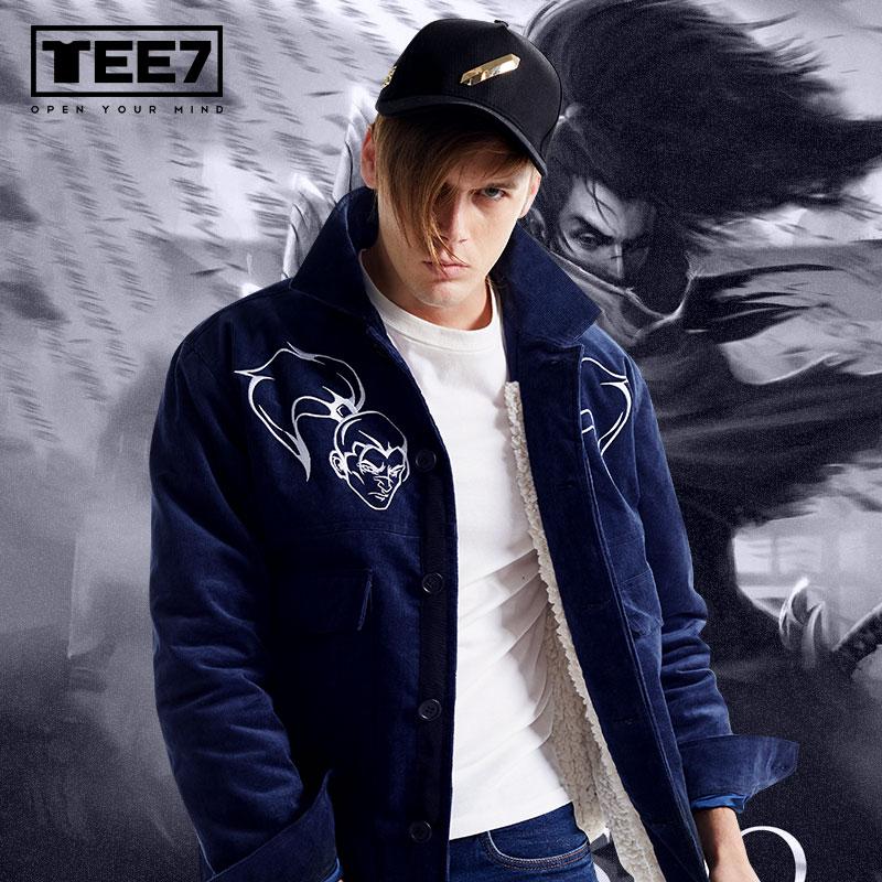 LOL Yasuo Куртки Лига Легенда S7 Зимние флисовые пальто для мужчин