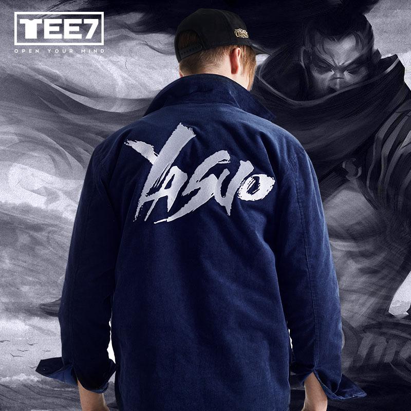 LOL Yasuo Jackets League of Legend S7 Winter Fleece Coats For Men