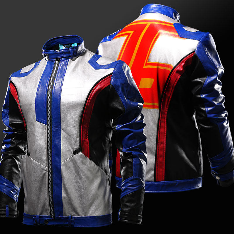 Blizzard Overwatch Soldier 76 Jacket Soldier76 Косплейная ткань OW Hero PU Кожаное пальто