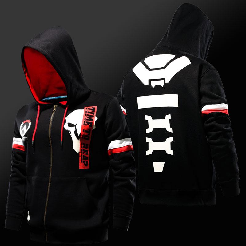 Blizzard Overwatch Reaper Hoodie OW Hero Cosplay Sweatshirt