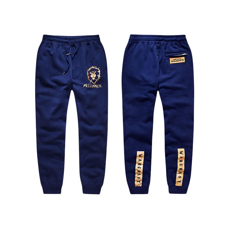 Blizzard World of Warcraft Alliace Logo Sweatpants Blue WOW Game Pants