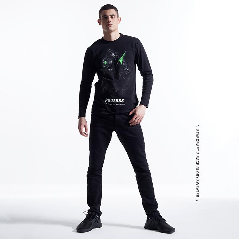 Quality Star Craft Terran T-shirt StarCraft Game Black Long Sleeve Tee Shirt