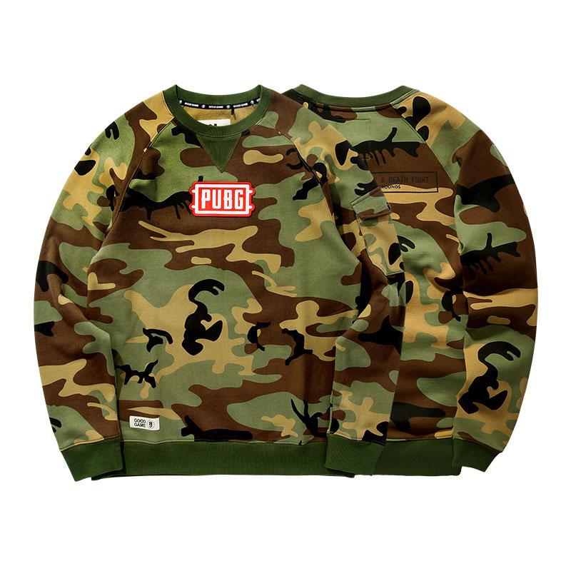 PUBG Hoodie Playerunknown'S Battlegrounds Camouflage Army Green Sweatshirt
