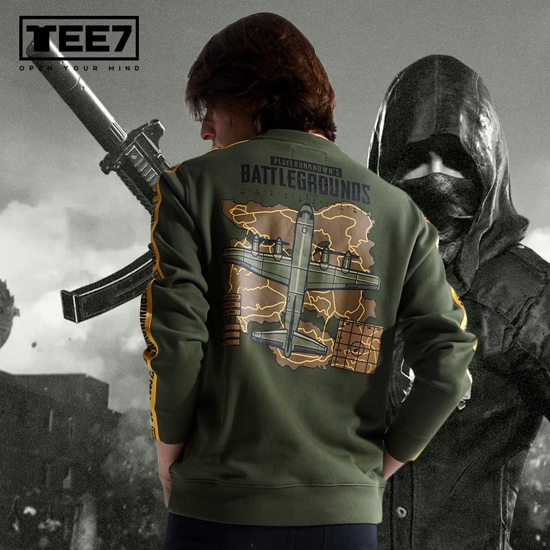 Quality Playerunknown'S Battlegrounds Army Green Sweatshirt PUBG Map Hoodie