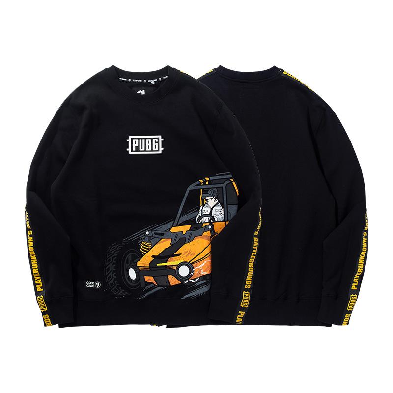 Quality Playerunknown'S Battlegrounds Black Sweatshirt PUBG Car Hoodie