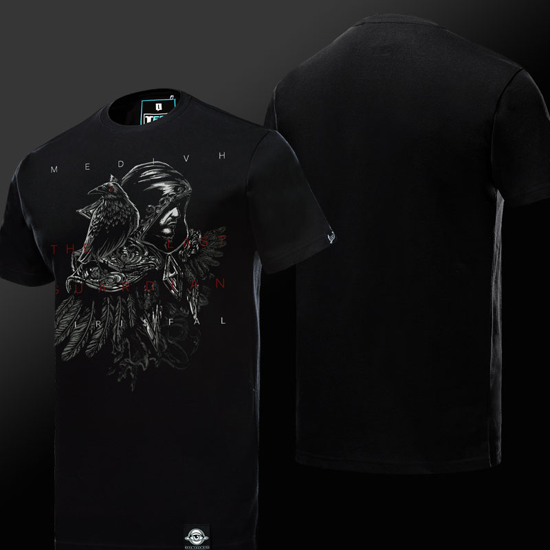 Quality World of Warcraft Medivh T-shirt WOW Charcter Black Tees