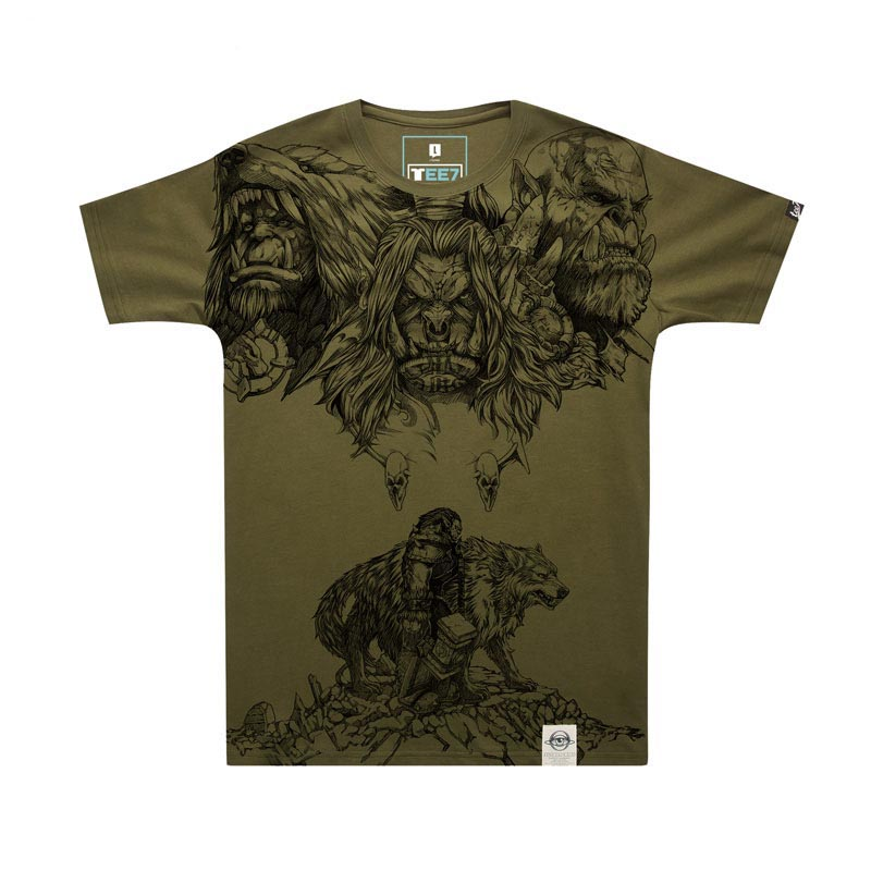 WOW Horde Grom Hellscream tshirt World of Warcraft Character Tees