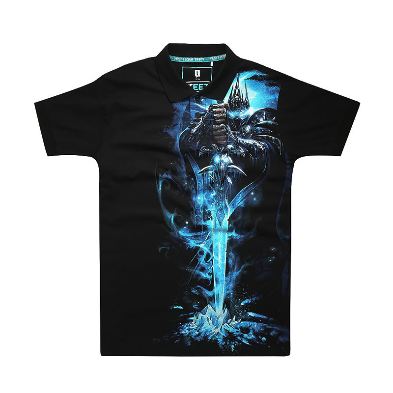 WOW World of Warcraft  Lich King Polo T-shirt Limited Edition