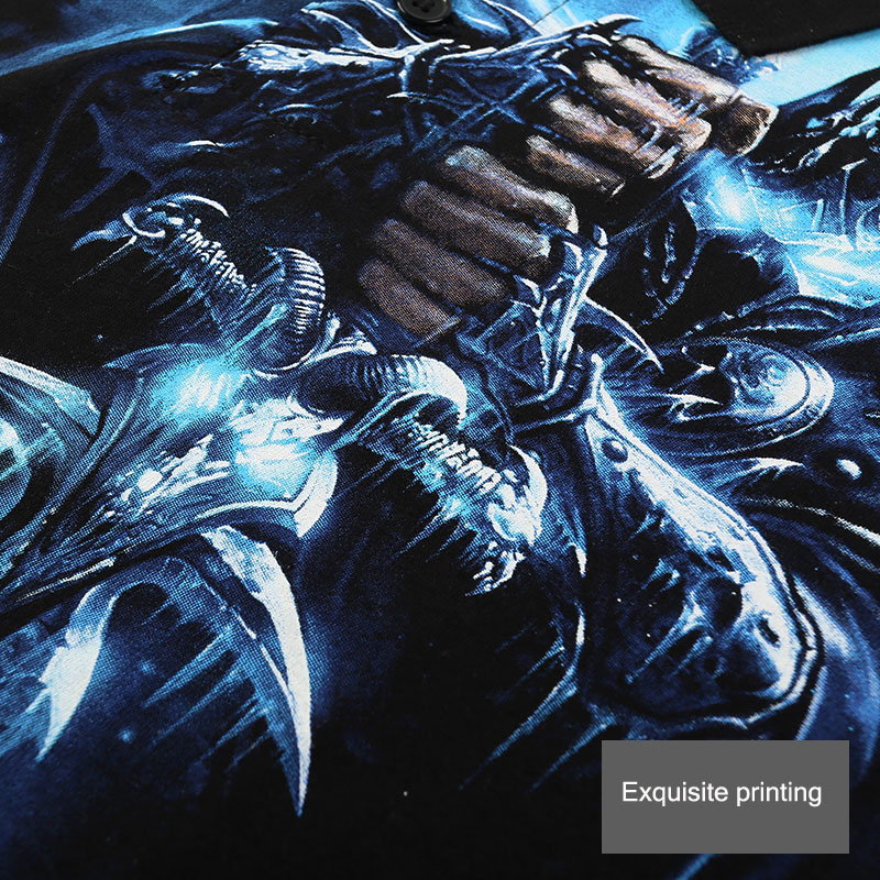 WOW мир Warcraft Lich King Поло футболки ограниченный выпуск