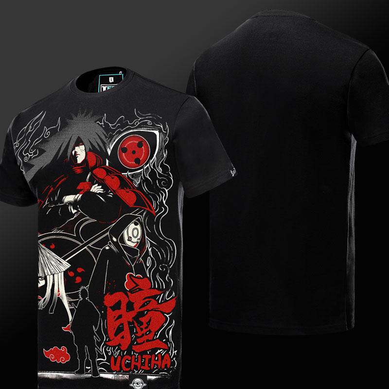 Cool  Naruto Uchiha Madara Tshirt Black Mens Tee Shirt