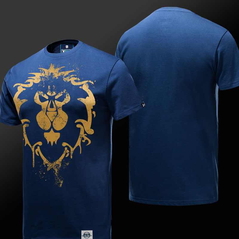 Limited Edition World of Warcraft Alliance Logo T-shirt for Men Women
