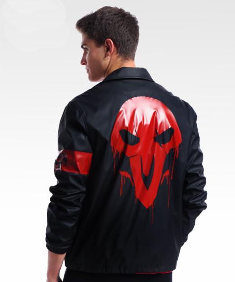 Blizzard Overwatch Reaper Jacket Black OW Hero Cosplay