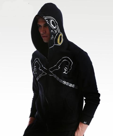 Black Overwatch Roadhog Cosplay Hoodie Blizzard OW Hero Sweatshirt