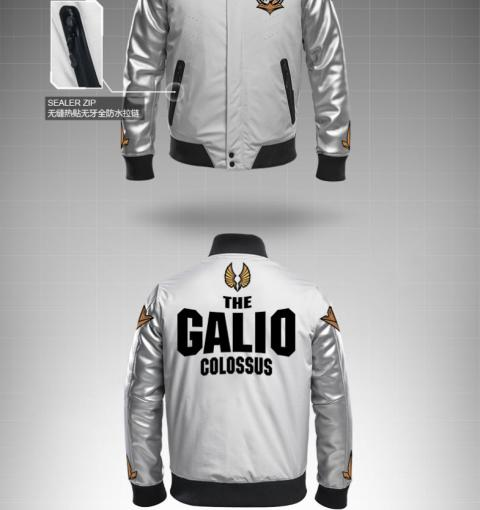 Quality League of Legends LOL Galio Jackets Winter LOL Hero Coats