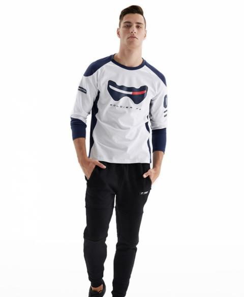 Blizzard Overwatch Soldier 76 T-shirt OW Game Long Sleeve Tee