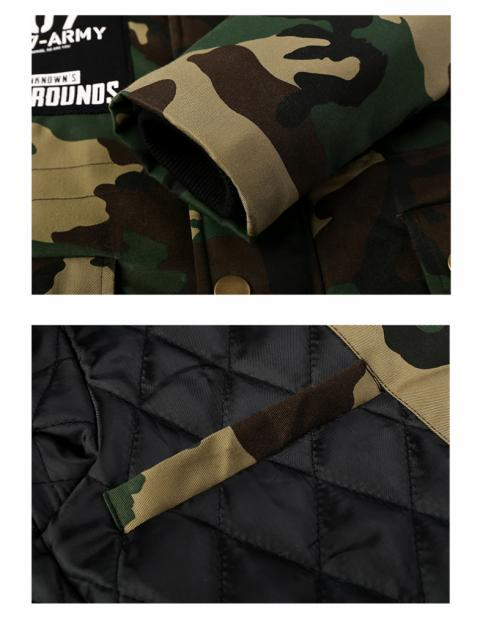 Winter PUBG Zip Up Long Thick Coat Playerunknown'S Battlegrounds Army Green Hooded Coat