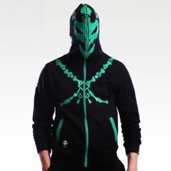 LOL Thresh Sweatshirt League of Legends Hero Full Face Mask Hoodie Cosplay Custume