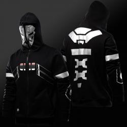Blizzard Over Watch Reaper Cosplay Hoodie Overwatch Hero Full Zip Sweatshirt
