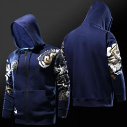Overwatch Hanzo Hoodie Blizzard OW Hero Full Zip Cosplay Sweatshit