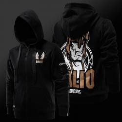 League of Legends Galio Hoodie LOL S7 Zip Up Sweatshirt For Men Boys