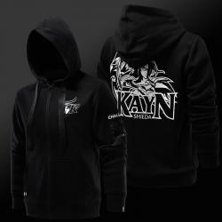 Qualità LOL Shieda Kayn Felpa con cappuccio Lega S7 Black Zip Up Felpa
