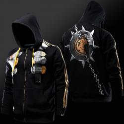 Overwatch Junkrat Hoodie Black Blizzard OW Hero Cosplay Sweatshirt