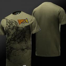 LOL Garen VS Darius Tshirt League of Legends Might of Demacia Hero Army Green Tee