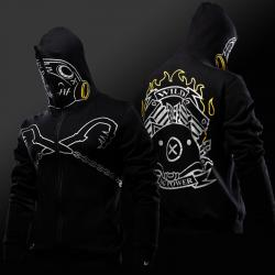 Black Overwatch Roadhog Cosplay Hoodie Blizzard OW Hero Sweatshirt