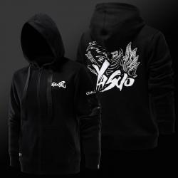 Cool League of Legends Yasuo Sweatshirt LOL S7 Чорні пальта для молоді
