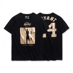 NBA Lakers Kobe Bryant T-shirt NO 24 Yellow Tee For Women Mens