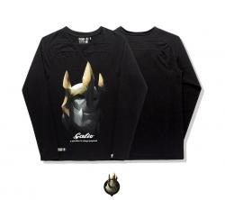 LOL Galio T-shirt League Legends Hero Black Long Sleeve Tees