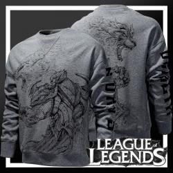 LOL Garen VS Darius Hoodie Grey League of Legends Sweatshirt