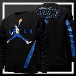 Dragon Ball Vegeta Jordan Slam Dunk Hoodie DB Black Sweatshirt