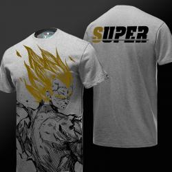 Dragon Ball Z Vegeta Tshirt DBZ Gray T-shirt