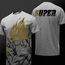 Dragon Ball Z Son Goku Tshirt DBZ Gray T-shirt for Boys Mens