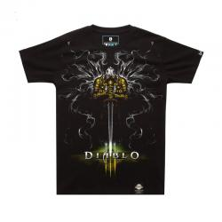 Blizzard Diablo Tyrael T-shirt Limited Edition Black Tees
