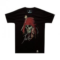 Luminous Pirates of the Caribbean Jack Tshirt Black Mens T-shirt