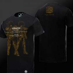 Saint Seiya Gemini T-shirt Black Tee For Mens