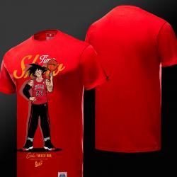 Drag Ball Z Goku Tshirt Red Short Sleeve Tees