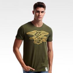 Cool SEALs T-shirts Blue XXXL Army Green Tee Shirts for Mens