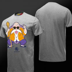 Dragon Ball Z Master Roshi T-shirts Gray 3XL Tees For Boys Girls