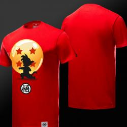 Lovely Dragon Ball Z Little Son Goku Tee Shirts Red T-shirts For Boys Girls