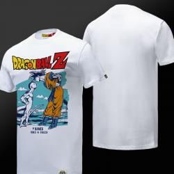 Limited Edition Son Goku VS Frieza T-shirt Dragon Ball Z White Tees