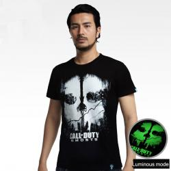 Luminous Call of Duty Ghosts T-shirt Black Plus Size Tee For Mens