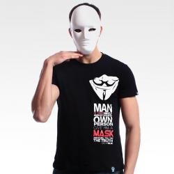 Limited Edition V for Vendetta T-shirt Black Mens Tee