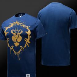 Ограниченное издание мир Warcraft Альянс логотип футболки для мужчин, женщин