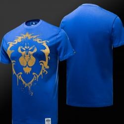 Limited Edition wereld van Warcraft WOW Alliance Logo T-shirt