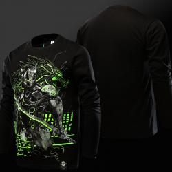 Cool Overwatch Gengi Tees Mens Black T-shirt