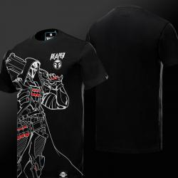 Cool Overwatch Reaper Tees For Men Black T-shirts