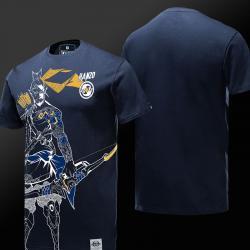 Unique Overwatch Hanzo Hero Shirts Men Blue T shirt